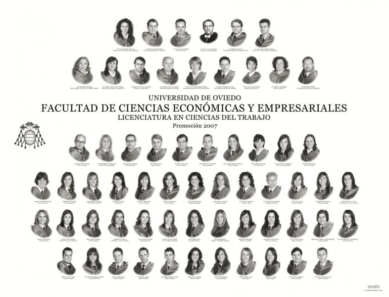 Orla de la Licenciatura en Ciencias del Trabajo de la Facultad de Economía y Empresa de la Universidad de Oviedo