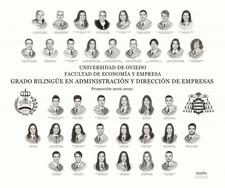 Orla del Grado Bilingüe en Administración y Dirección de Empresas de la Universidad de Oviedo