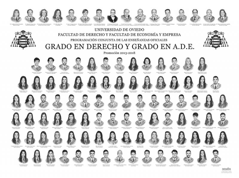 Orla del Doble Grado en Ade y Derecho de la Universidad de Oviedo