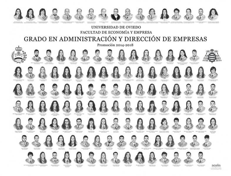 Orla del Grado en Administración y Dirección de Empresas de la Universidad de Oviedo