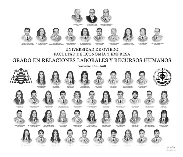 Orla del Grado en Relaciones Laborales y Recursos Humanos de la Universidad de Oviedo
