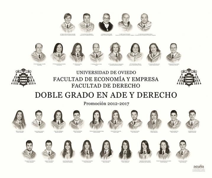 Orla del Doble Grado en Ade y Derecho de la Facultad de Economia y Empresa de Oviedo