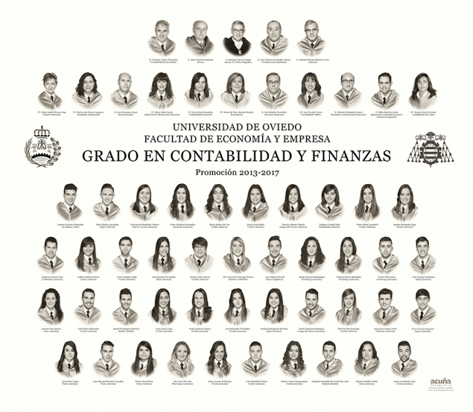Orla del Grado en Contabilidad y Finanzas de la Universidad de Oviedo