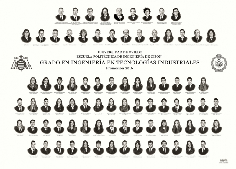 Orla del Grado en Ingeniería en Tecnologías Industriales de la Escuela Politécnica de Ingeniería de Gijón E.P.I.