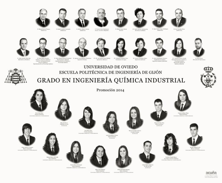 Orla del Grado en Ingeniería Química Industrial de la Escuela Politécnica de Ingeniería de Gijón E.P.I.