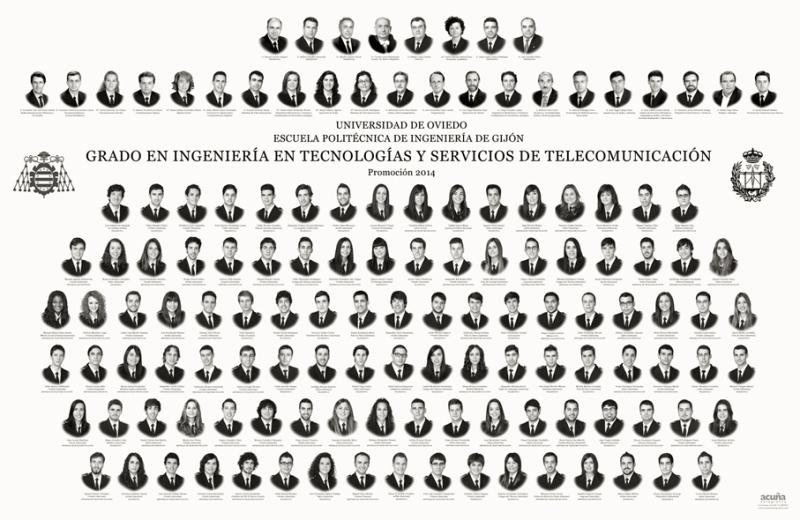 Orla del Grado en Ingeniería y Servicios de Telecomunicación de la Escuela Politécnica de Ingeniería de Gijón E.P.I.