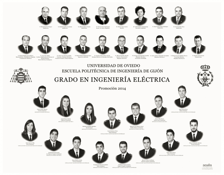 Orla del Grado en Ingeniería Eléctrica de la Escuela Politécnica de Ingeniería de Gijón E.P.I.