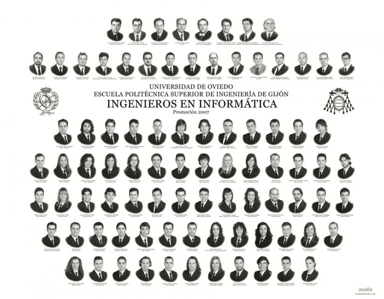 Orla de Ingenieros en Informática de la Escuela Politécnica de Ingeniería de Gijón E.P.I.
