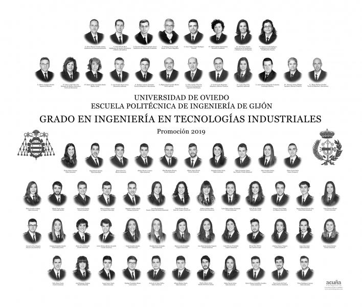 Orla del Grado en Ingeniería en Tecnologías Industriales de la Escuela Politécnica de Ingeniería de Gijón E.P.I.- Promoción 2019
