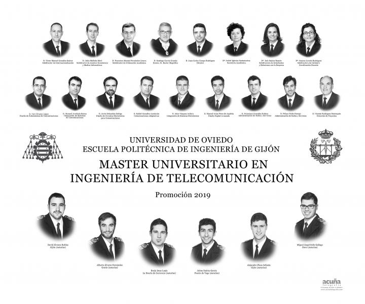 Orla del Máster Universitario en Ingeniería  de Telecomunicación de la Escuela Politécnica de Ingeniería de Gijón E.P.I. - Promoción 2017