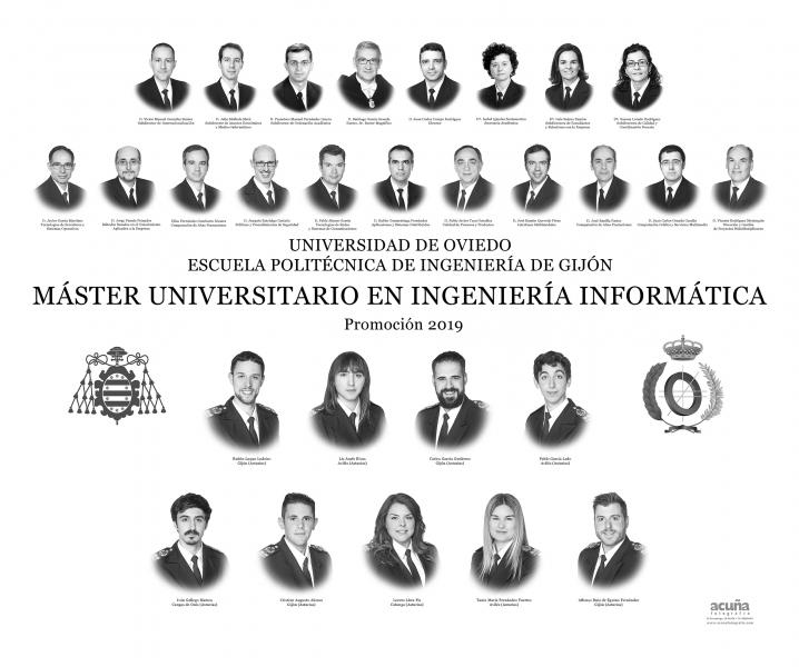 Orla del Máster Universitario en Ingeniería  Informatica de la Escuela Politécnica de Ingeniería de Gijón E.P.I. - Promoción 2017