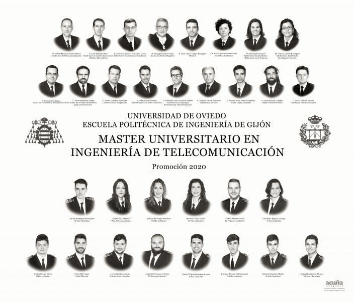 Orla del Máster Universitario en Ingeniería  de Telecomunicación de la Escuela Politécnica de Ingeniería de Gijón E.P.I. - Promoción 2020