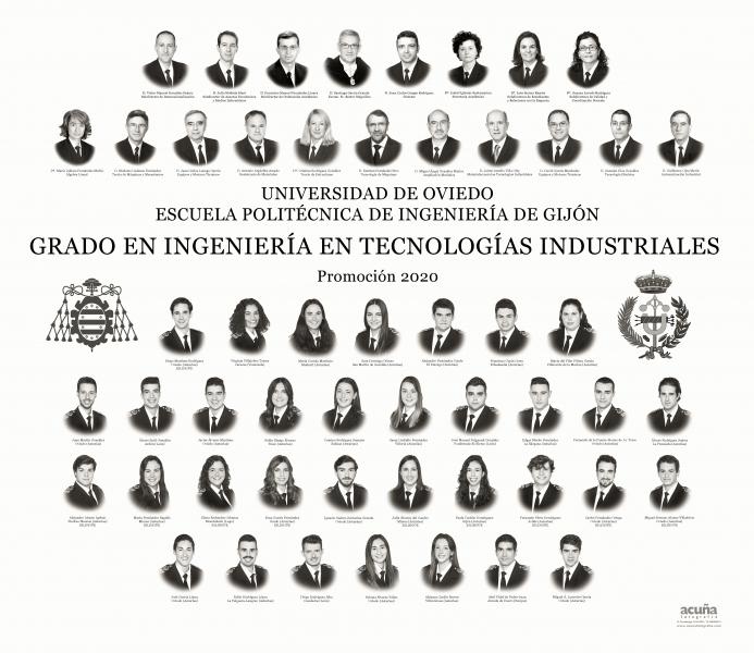 Orla del Grado en Ingeniería en Tecnologías Industriales de la Escuela Politécnica de Ingeniería de Gijón E.P.I.- Promoción 2020