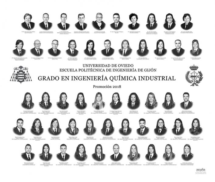 Orla del Grado en Ingeniería Química Industrial de la Escuela Politécnica de Ingeniería de Gijón E.P.I. - Promoción 2017