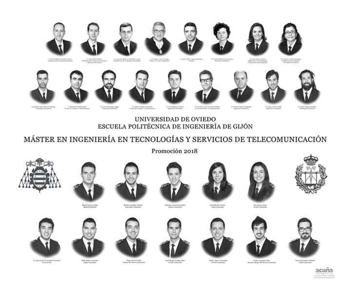 Orla del Máster en Ingeniería y Servicios de Telecomunicación de la Escuela Politécnica de Ingeniería de Gijón E.P.I. - Promoción 2017