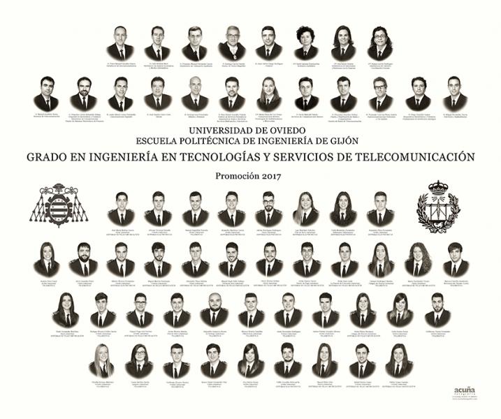Orla del Grado en Ingeniería y Servicios de Telecomunicación de la Escuela Politécnica de Ingeniería de Gijón E.P.I. - Promoción 2017