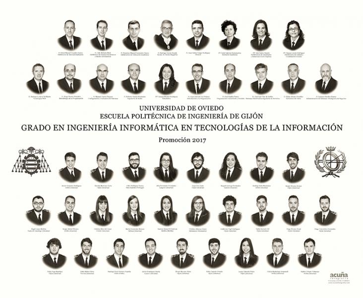 Orla del Grado en Ingeniería Informática en Tecnologías de la Información de la Escuela Politécnica de Ingeniería de Gijón E.P.I. - Promoción 2017