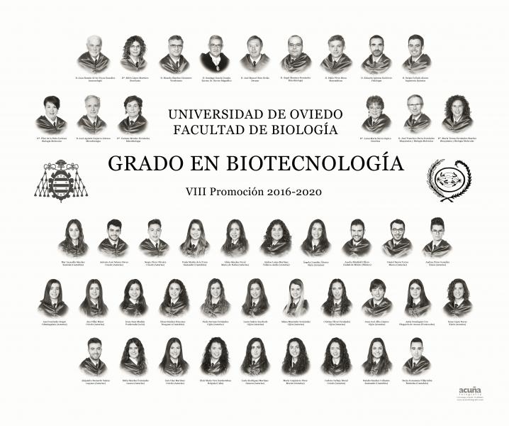 Orla del Grado en Biotecnología de la Universidad de Oviedo