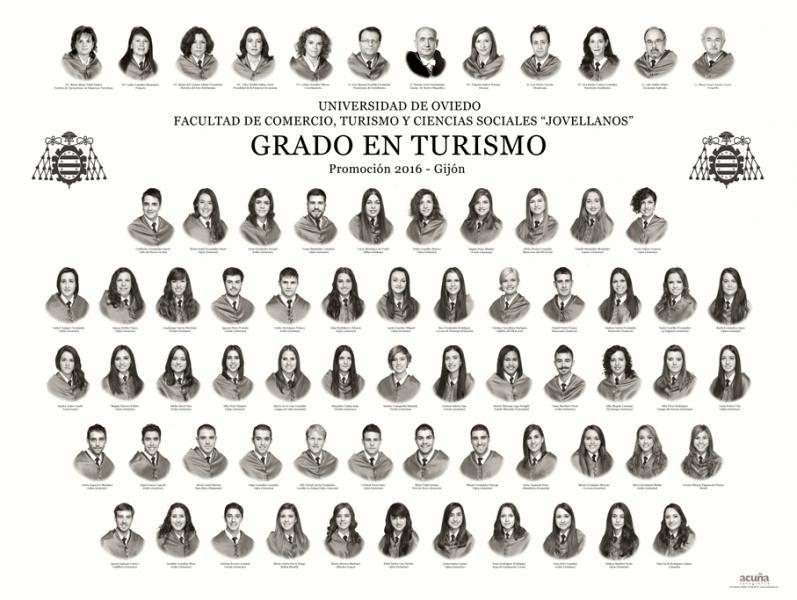 """Orla del Grado en Turismo de la Facultad de Comercio, Turismo y Ciencias Sociales """"Jovelanos"""" Gijón - Promoción 2016"""