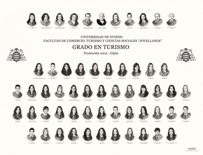 """Orla del Grado en Turismo de la Facultad de Comercio, Turismo y Ciencias Sociales """"Jovelanos"""" Gijón - Promoción 2015"""