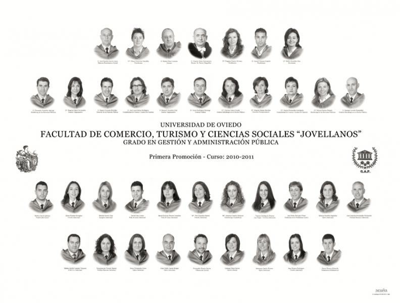 """Orla del Grado en Gestión y Administración Pública de la Facultad de Comercio, Turismo y Ciencias Sociales """"Jovelanos"""" Gijón - Promoción 2011"""
