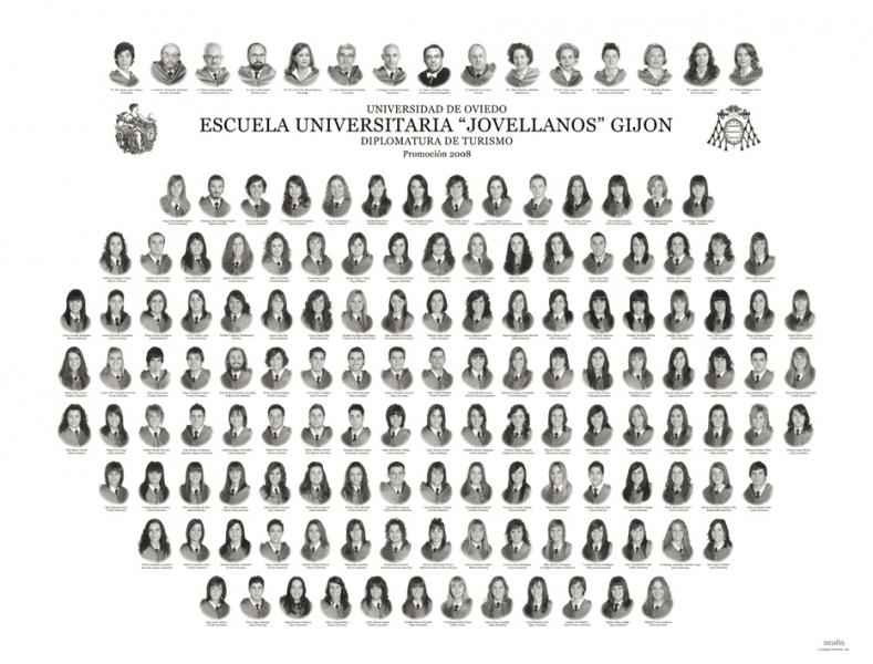 """Orla de la Diplomatura de Turismo de la Facultad de Comercio, Turismo y Ciencias Sociales """"Jovelanos"""" Gijón - Promoción 2008"""