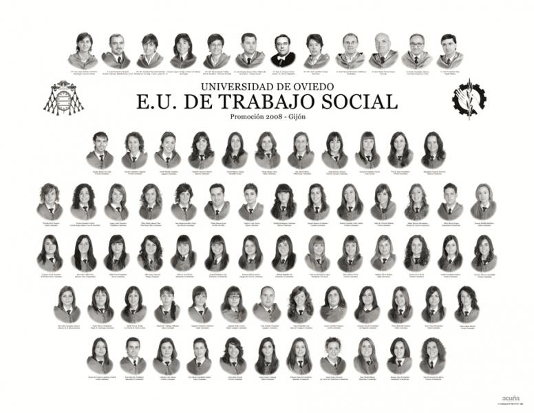 """Orla de Trabajo Social de la Facultad de Comercio, Turismo y Ciencias Sociales """"Jovelanos"""" Gijón - Promoción 2008"""
