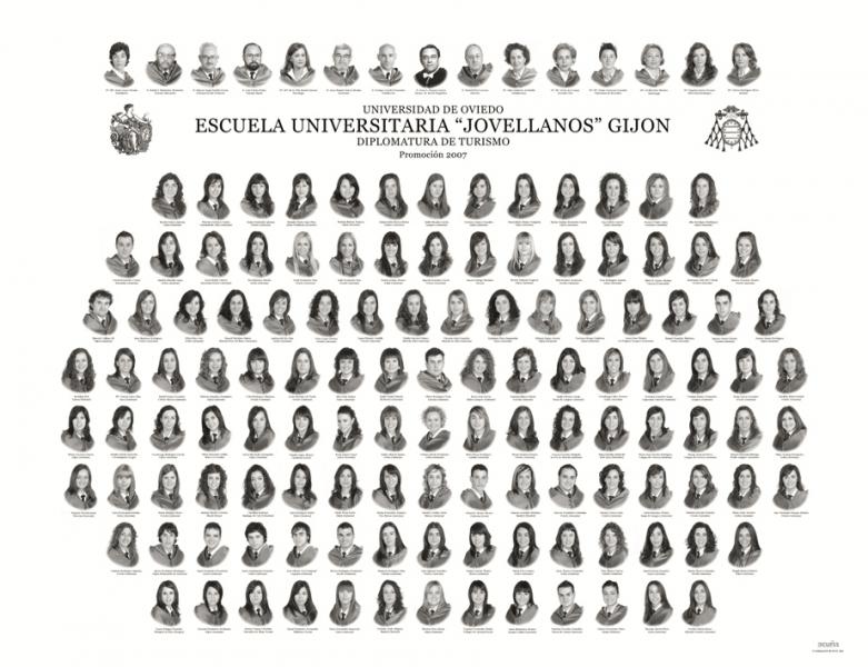 """Orla de la Diplomatura de Turismo de la Facultad de Comercio, Turismo y Ciencias Sociales """"Jovelanos"""" Gijón - Promoción 2007"""