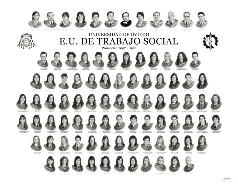 """Orla de Trabajo Social de la Facultad de Comercio, Turismo y Ciencias Sociales """"Jovelanos"""" Gijón - Promoción 2007"""