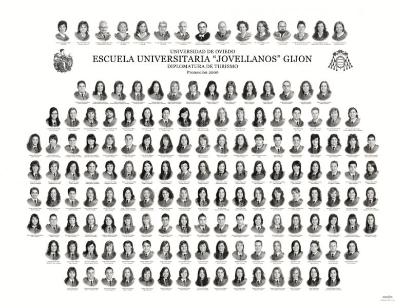 """Orla de la Diplomatura de Turismo de la Facultad de Comercio, Turismo y Ciencias Sociales """"Jovelanos"""" Gijón - Promoción 2006"""
