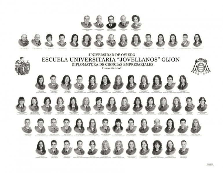 """Orla de la Diplomatura de Ciencias Empresariales de la Facultad de Comercio, Turismo y Ciencias Sociales """"Jovelanos"""" Gijón - Promoción 2006"""