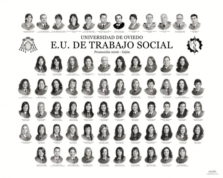 """Orla de Trabajo Social de la Facultad de Comercio, Turismo y Ciencias Sociales """"Jovelanos"""" Gijón - Promoción 2006"""