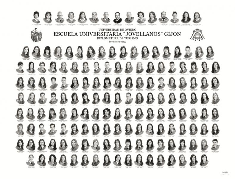 """Orla de la Diplomatura de Turismo de la Facultad de Comercio, Turismo y Ciencias Sociales """"Jovelanos"""" Gijón - Promoción 2005"""