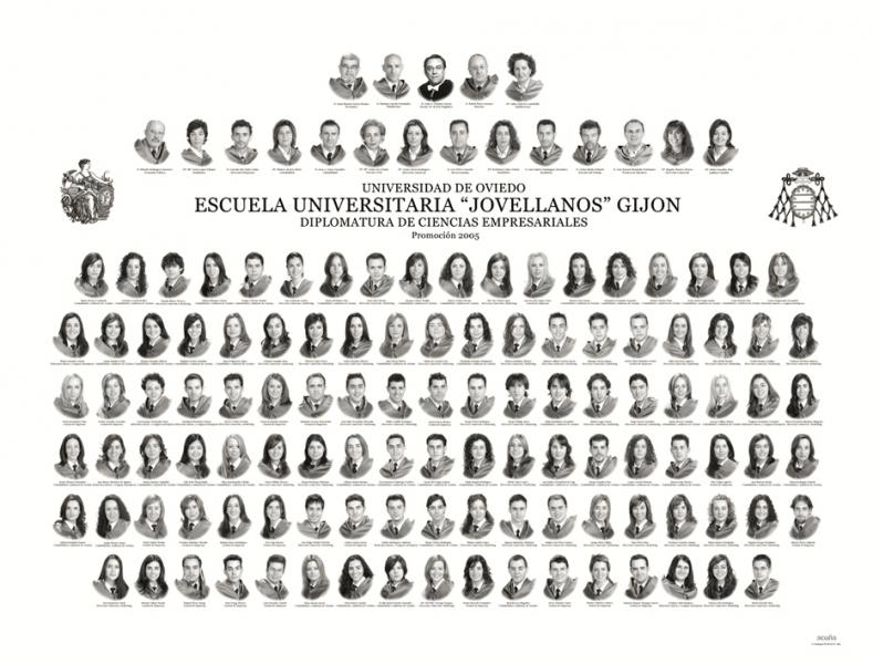 """Orla de la Diplomatura de Ciencias Empresariales de la Facultad de Comercio, Turismo y Ciencias Sociales """"Jovelanos"""" Gijón - Promoción 2005"""