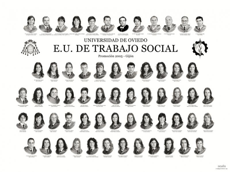 """Orla de Trabajo Social de la Facultad de Comercio, Turismo y Ciencias Sociales """"Jovelanos"""" Gijón - Promoción 2005"""