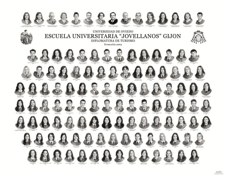 """Orla de la Diplomatura de Turismo de la Facultad de Comercio, Turismo y Ciencias Sociales """"Jovelanos"""" Gijón - Promoción 2004"""