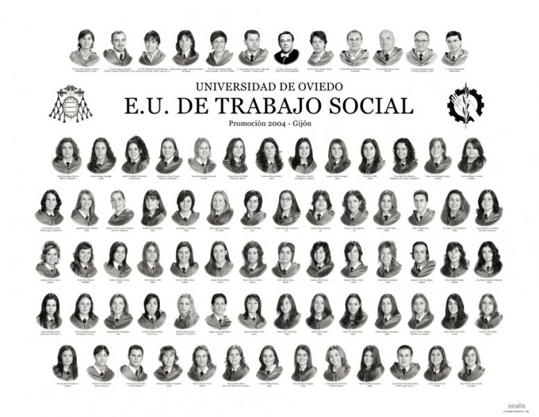 """Orla de Trabajo Social de la Facultad de Comercio, Turismo y Ciencias Sociales """"Jovelanos"""" Gijón - Promoción 2004"""