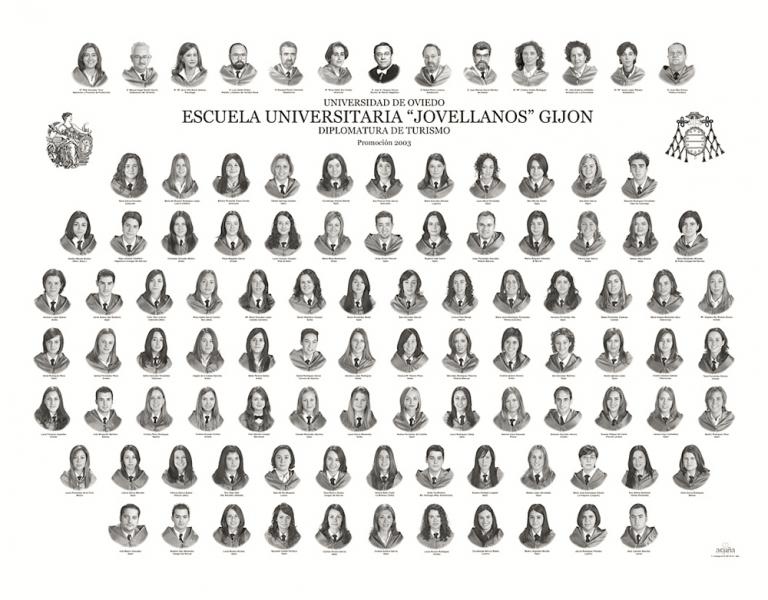 """Orla de la Diplomatura de Turismo de la Facultad de Comercio, Turismo y Ciencias Sociales """"Jovelanos"""" Gijón - Promoción 2003"""