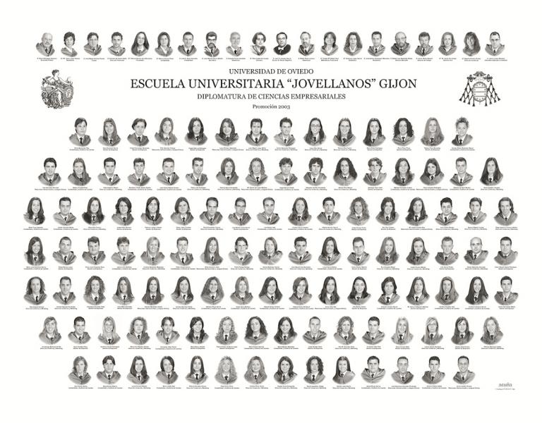 """Orla de la Diplomatura de Ciencias Empresariales de la Facultad de Comercio, Turismo y Ciencias Sociales """"Jovelanos"""" Gijón - Promoción 2003"""