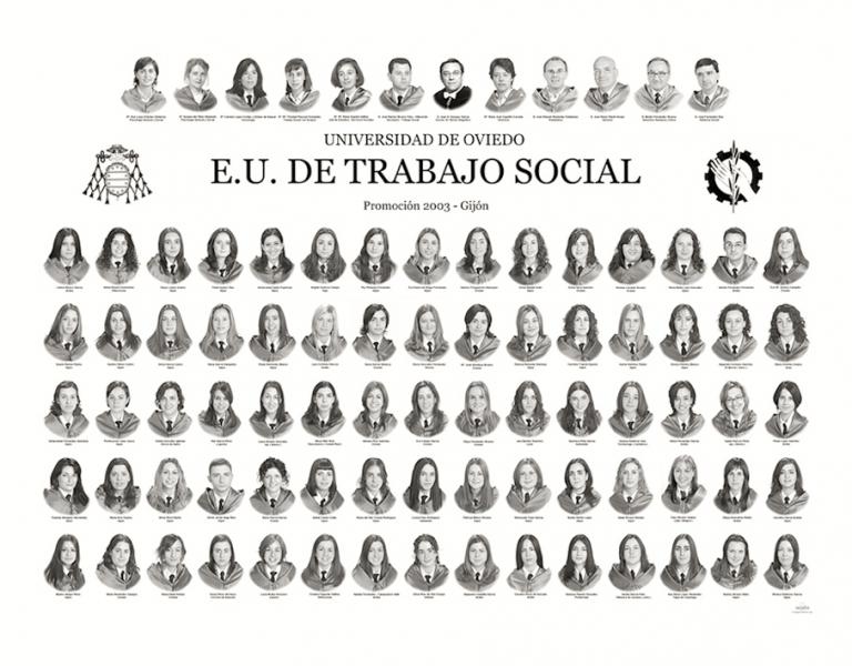 """Orla de Trabajo Social de la Facultad de Comercio, Turismo y Ciencias Sociales """"Jovelanos"""" Gijón - Promoción 2003"""