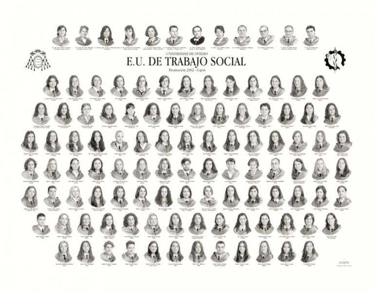"""Orla de Trabajo Social de la Facultad de Comercio, Turismo y Ciencias Sociales """"Jovelanos"""" Gijón - Promoción 2002"""
