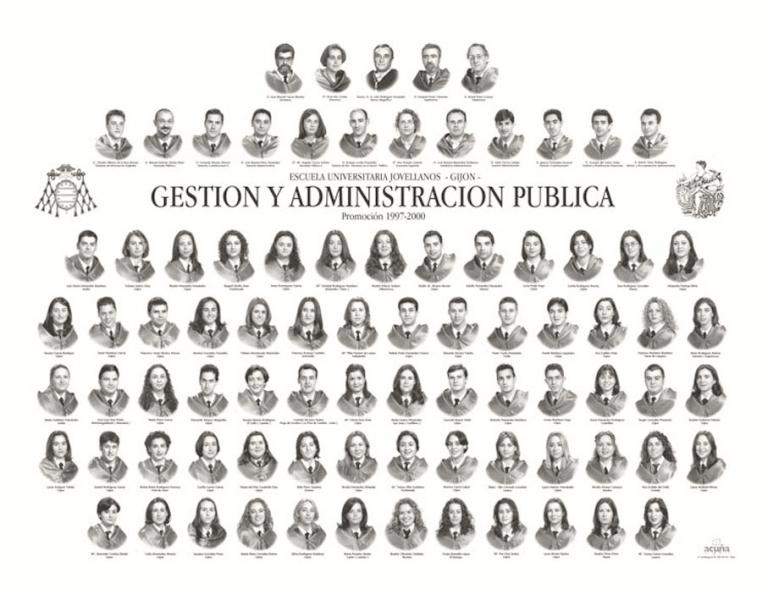 """Orla de la Diplomatura de Gestión y Administración Pública de la Facultad de Comercio, Turismo y Ciencias Sociales """"Jovelanos"""" Gijón - Promoción 2001"""