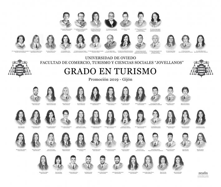 """Orla del Grado en Turismo de la Facultad de Comercio, Turismo y Ciencias Sociales """"Jovelanos"""" Gijón - Promoción 2019"""