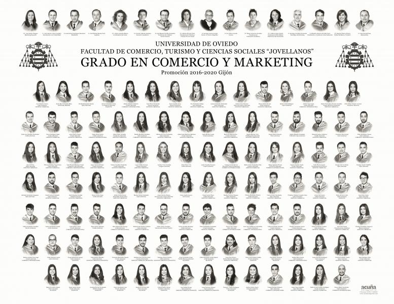 """Orla del Grado en Comercio y Marketing de la Facultad de Comercio, Turismo y Ciencias Sociales """"Jovelanos"""" Gijón - Promoción 2020"""