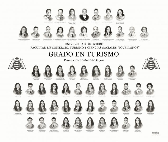 """Orla del Grado en Turismo de la Facultad de Comercio, Turismo y Ciencias Sociales """"Jovelanos"""" Gijón - Promoción 2020"""