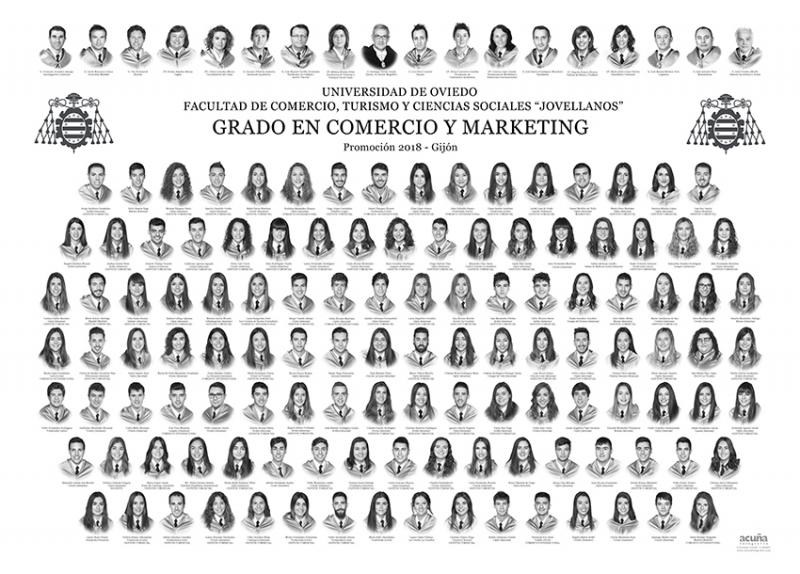 """Orla del Grado en Comercio y Marketing de la Facultad de Comercio, Turismo y Ciencias Sociales """"Jovelanos"""" Gijón - Promoción 2018"""