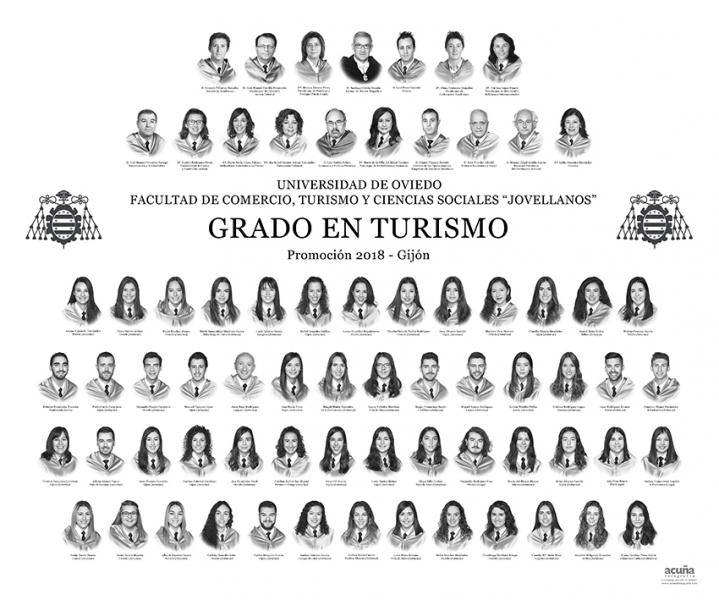 """Orla del Grado en Turismo de la Facultad de Comercio, Turismo y Ciencias Sociales """"Jovelanos"""" Gijón - Promoción 2018"""