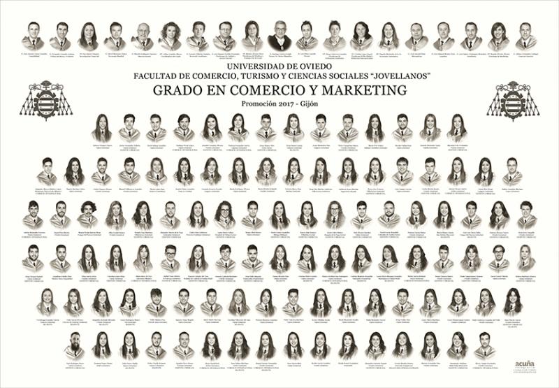 """Orla del Grado en Comercio y Marketing de la Facultad de Comercio, Turismo y Ciencias Sociales """"Jovelanos"""" Gijón - Promoción 2017"""