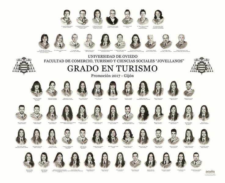 """Orla del Grado en Turismo de la Facultad de Comercio, Turismo y Ciencias Sociales """"Jovelanos"""" Gijón - Promoción 2017"""