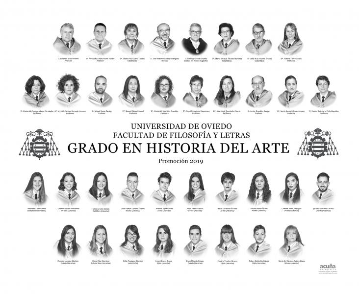 Orla del Grado en Historia del Arte de la Facultad de Filosofia y Letras de la Universidad de Oviedo